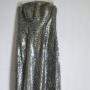 BELLA FORMALS DRESS STRAPLESS SEQUIN SIZE  8